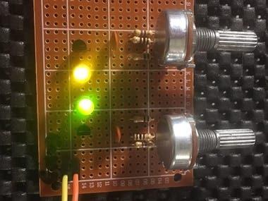 Multivibrator on perfboard