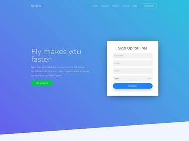 Landing websitr