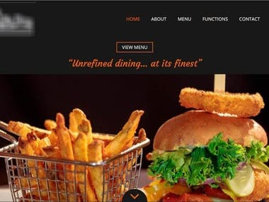 Responsive Wordpress Restaurant website