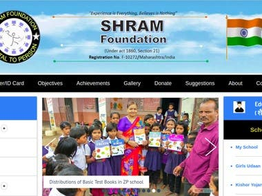 Shram Foundation Website