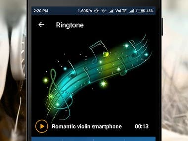 Ringtone App (Android )