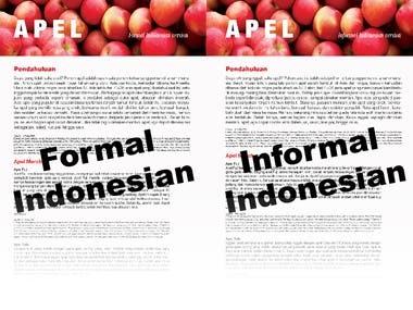 English to Indonesian Translation