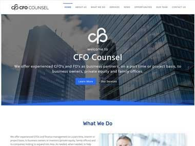Website for a Consultant Company (cfocounsel.asia)