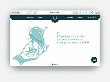 web2sky UI-design