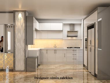 kitchen design by elijoli and 3ds max