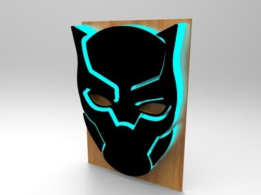WOODEN BLACK PANTHER