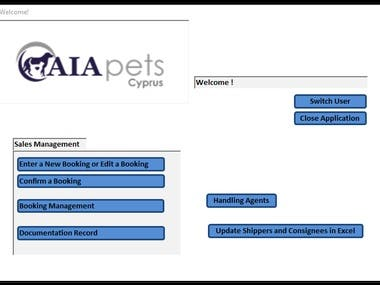 Bookings Management for AIA pets