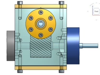 Single Stage Helical Gear Box.