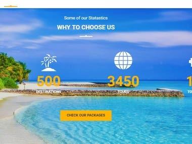 Travel company site.