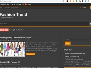 FASHION DESIGN WEBSITE
