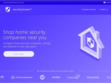 Home security review service