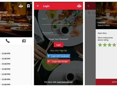 Haloodie Restaurant search App
