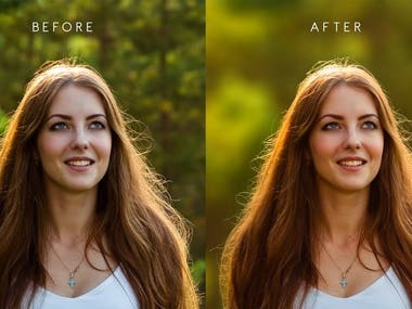 Photo retouching & editing