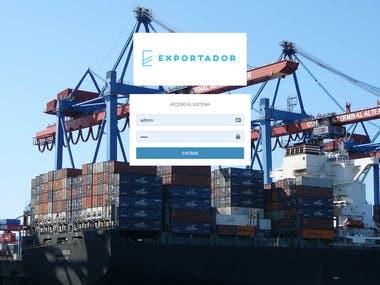 Sistema para el control de exportaciones