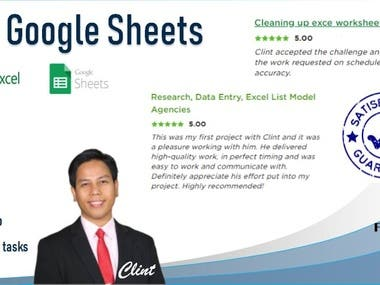 ✅ Data Entry in Excel / Google Sheets