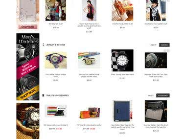 Online eCommerce fully responsive