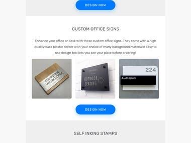 HTML Product Newsletter