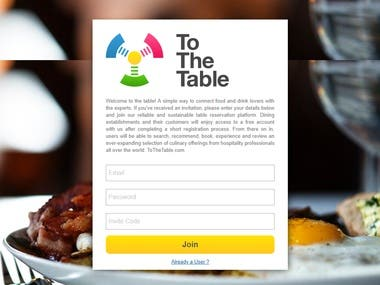 To the table