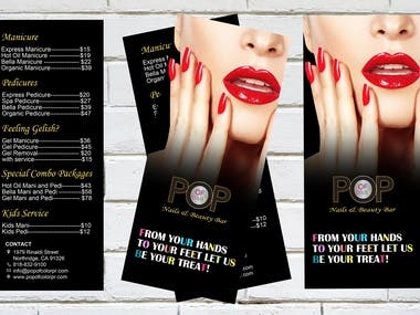 Nail Salon Brochure