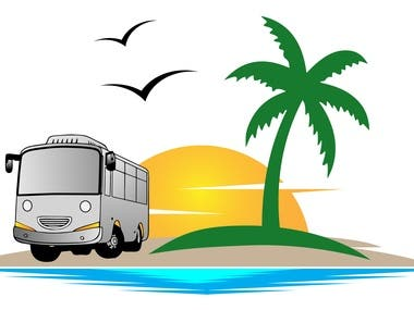 Touristic Transport company logo