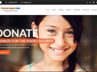 Palestine Support Fund Website