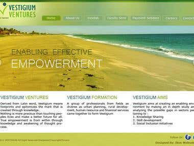Website for Vestigium Ventures