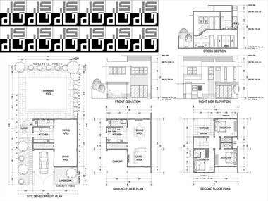 2D Architectural Drawing using Auto CAD 2007