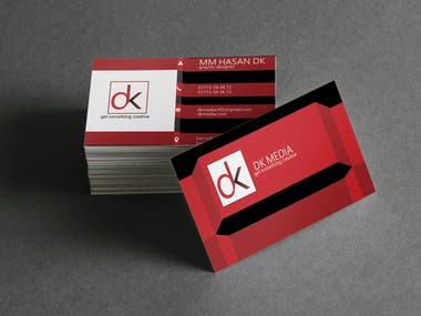 Business card/Visiting card two part