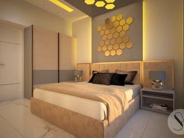 Master Bedroom_3d Rendering