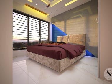 Bedroom_3d Rendering