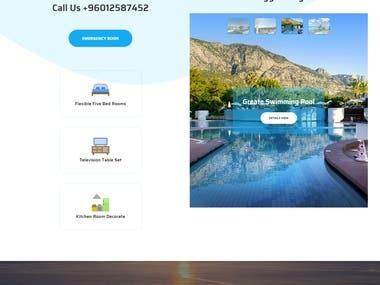 Rental Landing page design