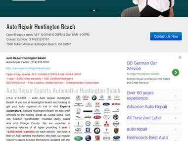 Car Repair Website Design and Development by Wordpress
