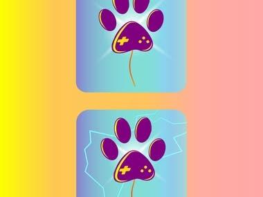 CAT PAW logo design.