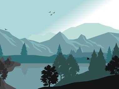 Landscape vector art