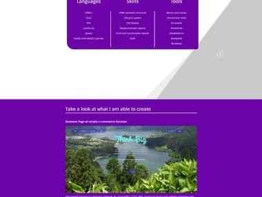 Simple E-coomerce webpage