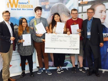 Won Competition: 1. Wiesbadener Smart Solutions Hackathon
