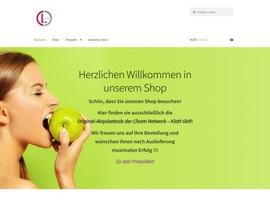 Ecommerce Store for LTeam Klatt GbR