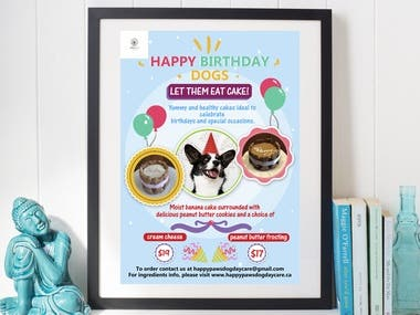Flyer for birthday cake for dogs