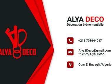 graphic design For Company Alya Deco