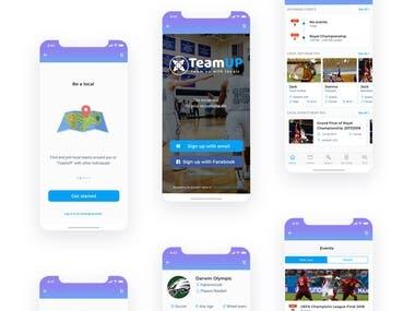 TEAM UP - Mobile App for Soccer