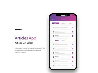 Articles Application