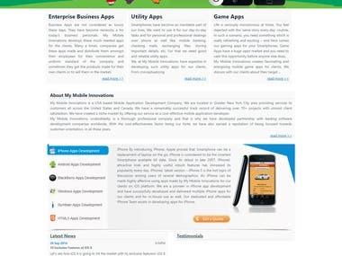 Mobile Apps Portfolio Web Portal CMS