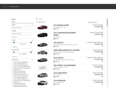 R Hollenshead Auto e-Commerce Portal
