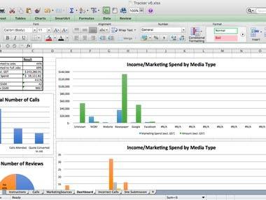 Sapphire Trade Services – Spreadsheet Tracker