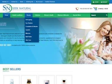 Health care website using laravel + React.js
