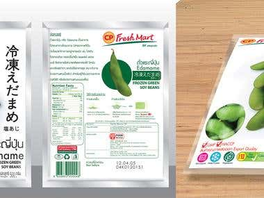 Frozen Product Packaging design