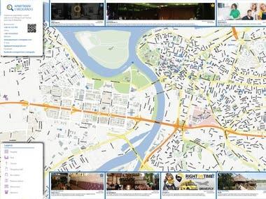 Tourist map of Belgrade