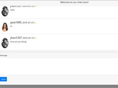BlueLand, chat room web application