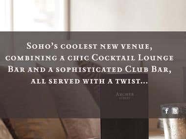 Archer Street Bar Website