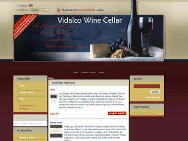 Vidalco Wine Cellar - In Progress - Zencart - E-commerce